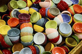 A diverse collection of cups with various colors — Stock Photo