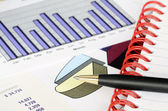 Concept of financial analysis, stock market charts, and business growth — Stock Photo