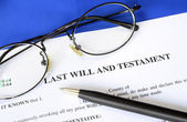 Last Will and Testament concept of estate planning — Stockfoto