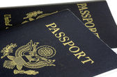 United States passport front cover concept of traveling — Stock Photo