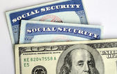 Social Security and retirement income concept of financial planning — Stock Photo