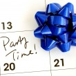 Mark the Party Time on the calendar — Stockfoto #2303467
