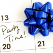 Mark the Party Time on the calendar — Stok fotoğraf #2303467