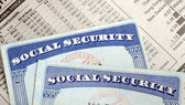 Social Security and retirement income concept of financial planning and its future — Stock Photo