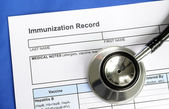 Immunization Record concept of vaccination and disease prevention — Stock Photo