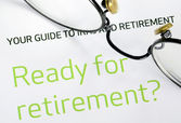 Focus on the investment in the retirement plan concept of finance and retirement — Stock Photo
