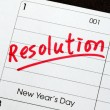 Stock Photo: Resolutions for New Year concepts of goal and objective