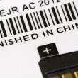 A label with Finish in China title — Foto de Stock