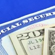 Social Security and retirement income concept of financial planning and its future — Foto de Stock