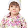 Portrait of a charming little girl in a cap — Stock Photo