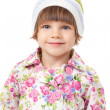 Portrait of a charming little girl in a cap — Stock Photo #12568159