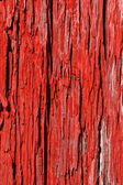 Old red wood cracked texture — Stock Photo