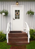 Front entrance to a home with classic design — Stock Photo