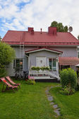 Small house with a tiled roof — Stock Photo
