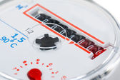 Macro shot of a water meter — Stockfoto