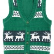 Stock Photo: Knitted vest with a Christmas ornament (with deer)