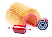 Kit de coche, combustible, aceite y aire del filtro. — Foto de Stock