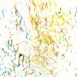 Abstract background from the remnants of pencil crayons - Photo