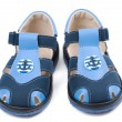 Royalty-Free Stock Photo: Baby blue sandals with a pattern in the shape of an anchor.