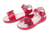 Red Child Sandals — Stock Photo