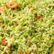 Royalty-Free Stock Photo: Green rice with shrimp close-up