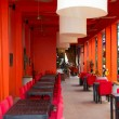 Orientalisches Restaurant in orange Spiel in Kambodscha — Stockfoto