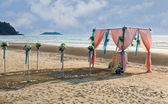 Flower decoration at the beach wedding — Stockfoto