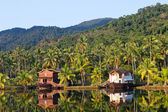 Tropical hotel in the jungle. Island Koh Chang — Stock Photo