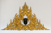 Golden Thai style stucco — Foto de Stock