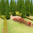 Foto de Stock  : Landscaped garden Royal FlorRatchaphruek
