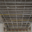Suspended ceiling system under reconstruction building — Stock Photo