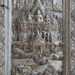 Stock Photo: Silver Struck panels in silver temple Wat Sri Suphan
