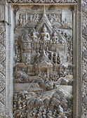 Silver Struck panels in silver temple Wat Sri Suphan — Stock Photo