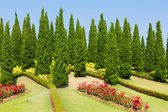 Landscaped garden Royal Flora Ratchaphruek — Stock Photo