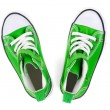 Green Sneakers top view — Stock Photo #22846060