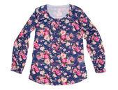 Senhoras blusa com estampa floral — Foto Stock
