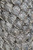 Metal stamping, silver temple fragment — Stock Photo