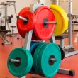 Royalty-Free Stock Photo: Plates for strength training on the stand