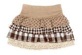 Beige skirt with ruffles — Stock Photo