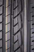 Closeup of rubber tire tread — Stock Photo