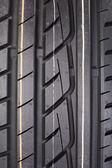 Closeup of rubber tire tread — Stock Photo