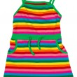 Children's striped sundress — 图库照片