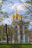 Dome of Russian Orthodox church of Catherine Palace — Stock Photo
