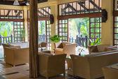 Tropische hotellobby — Stockfoto