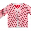 Children's jacket with polka dots — Stock Photo