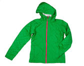 Green quilted jacket — Stock Photo