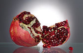 Ripe red pomegranate — Stock Photo