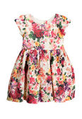 Dress with floral pattern — Stock Photo
