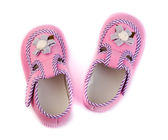 Pair of baby pink sandals. — Stock Photo