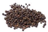 Black Peppercorns isolated — Stock Photo